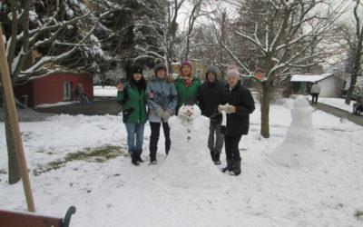 Schneemannbauen